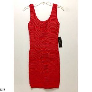 NWT Bebe Red Bodycon Dress